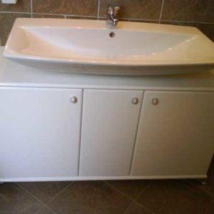 Mobiletto bagno sottolavello con specchiera