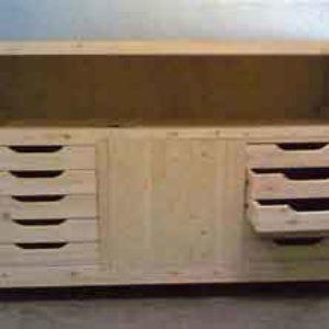 BR003 | Bancone da lavoro con cassettiere su misura