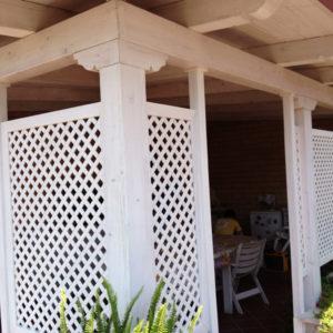 SE006 | Copertura terrazzo e grigliato bianco