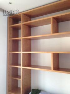 MSM028 |Parete attrezzata in legno ciliegio