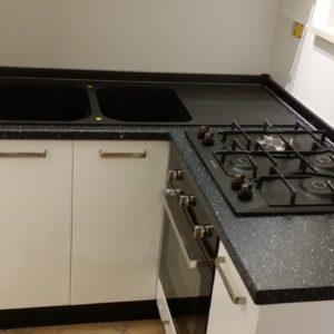 Cucina su misura laccata bianco